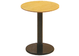 丸テーブル(木目)