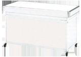 平台カウンター(白) W1500
